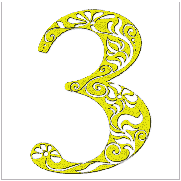 Numerology meaning of 3: You are generally happy, friendly, and outgoing. You have a gift for gab.