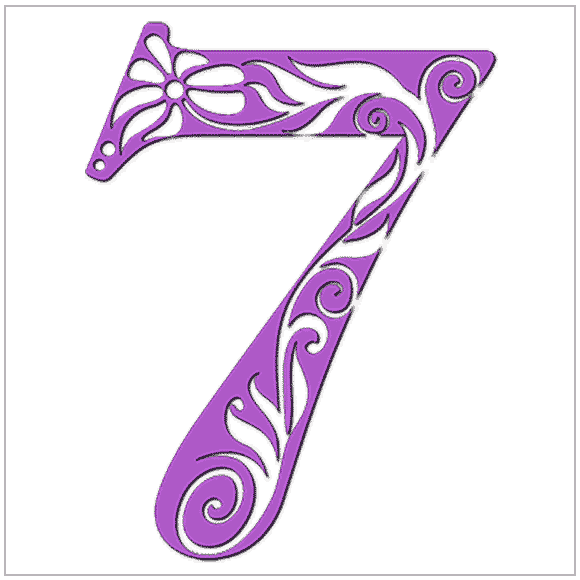 Numerology meaning of the number 7: You possess clarity and persistence in your search for truth.