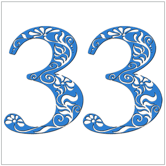 Numerology meaning of the number 33: You are artistic. Harmony and beauty are high on your list of priorities.