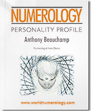 Personal Numerology Reading; Personality Profile by numerologist Hans Decoz