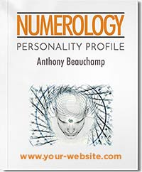 Personal Numerology Profile report, reveals over 40 aspects in your numerology chart