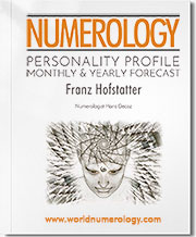 This Numerology Report combines the personality profile and yearly forecast