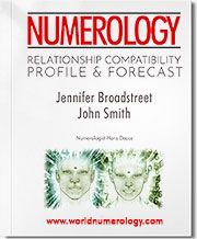 The Relationship Compatibility Numerology Profile and Forecast examines the cycles between you and someone else to help you avoid friction and keep your relationship harmonious.