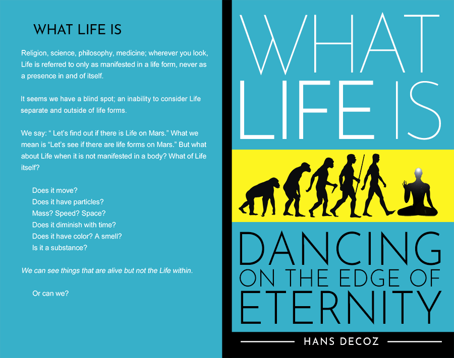 Front and back cover of What Life Is, by Hans Decoz