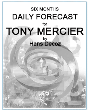 Daily Numerology Forecast for the next six months, by numerologist Hans Decoz