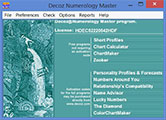 Decoz Numerology Software for professional use - best selling numerology readings on the web are produced with this software