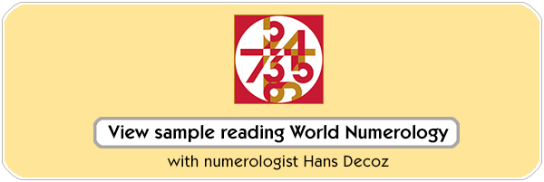 World Numerology Readings and Charts, by numerologist Hans Decoz