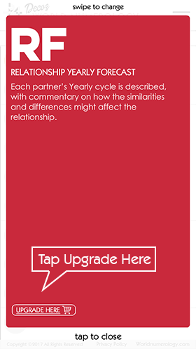 Tap upgrade here to purchase numerology subscriptions