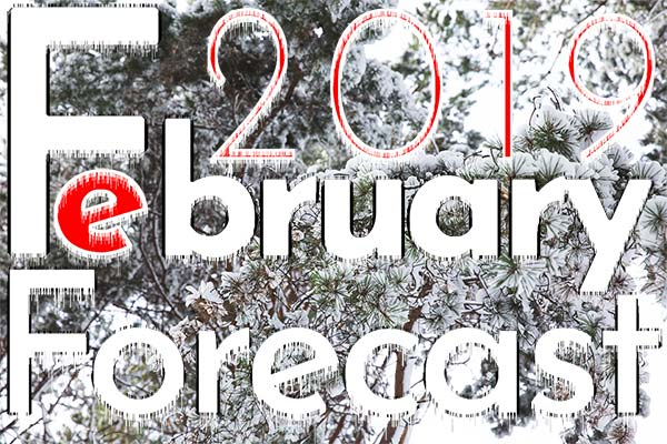 Numerology Forecast for February, 2019 - for all nine Personal Year numbers.