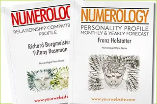 We offer 10 numerology reports to affiliates to sell directly from their site