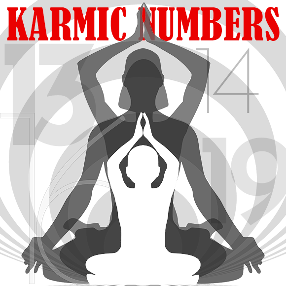 In numerology, 13, 14, 16, 19 are Karmic Debt numbers and each carries a specific burden. Download the World Numerology App to learn if you have any Karmic Debts in your numerology chart