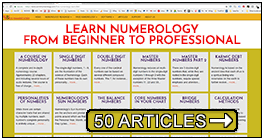 Numerology course and tutorials, guide lines on reading numerology charts, and more