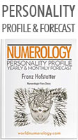 Numerology Report; The Personality Profile and Yearly Forecast combined