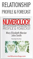 Numerology Report; The Relationship Compatibility Profile and Forecast combined