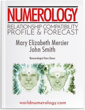 Numerology Relationship report combines both the relationship compatibility and relationship forecasts