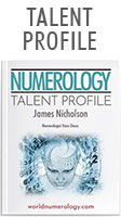Numerology Talent Profile reveals your special strengths and talents in visual form