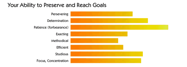 Your Numerology Talent Profile rates your ability to preserve and reach goals