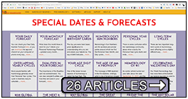 Special dates and Numerology Forecasts; from 911 to 4-4-4, dates are important.