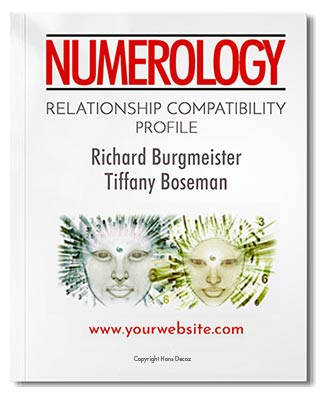 Our Numerology Relationship Profile compares your five core numbers with that of your partner, friend, family member, or co-worker.
